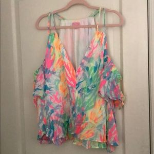 Lily Pulitzer cold shoulder top